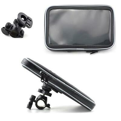 Motorcycle Handlebar Mount & Waterproof Case For 7'' Inch Sat Nav