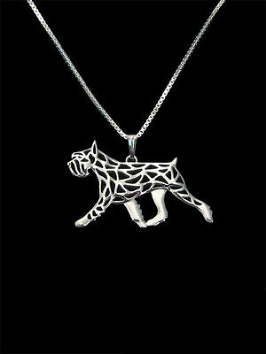 Schnauzer 3D  wheaton Standard Schnauzer moveme pendant necklace dog collectible