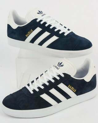 4d76c9c67b2c adidas Gazelle Trainers in Navy Blue   White - suede retro 3 stripe classic