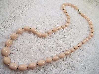 Beige Acrylic Bead Necklace (C41)