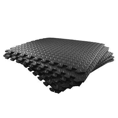 6pc Anti Fatigue Foam Flooring Matting Floor Covering Gym Mat Home Office TE82
