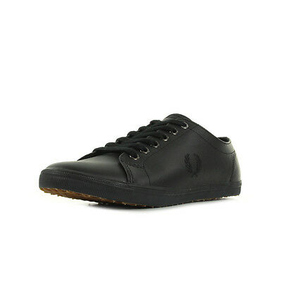 Chaussures Baskets Fred Perry homme Kingston Leather Black taille Noir Noire