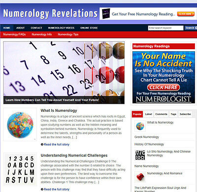 Numerology Blog / Affiliate Website With Store & Banners + Free Hosting