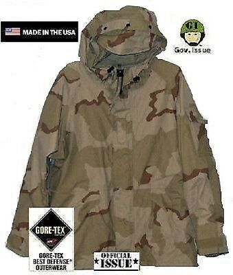 US Army 3color Desert DCU Goretex ECWCS Cold Weather Jacke Parka LL Large Long