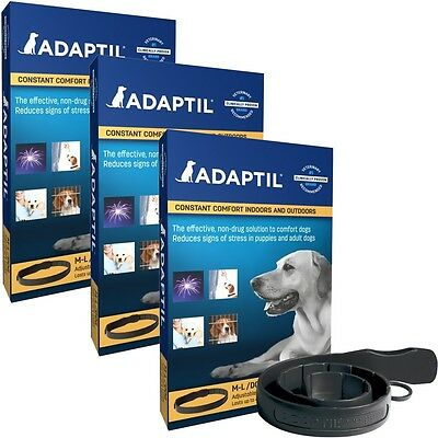 3 Pack ADAPTIL D.A.P. Collar for Medium  Large Dogs