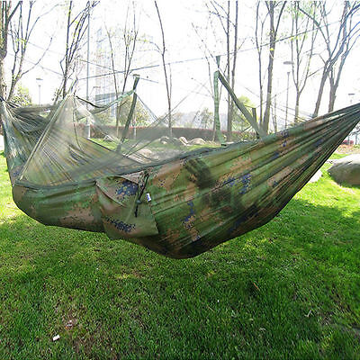 New Tent Hammock With Mosquito Net Military Bushcraft For Outdoor Jungle Camping