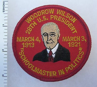 U.S. PRESIDENT WOODROW WILSON 1913-1921 PATCH, 1990s Vintage Collectible