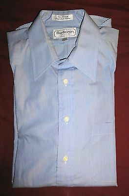 Vintage Burberrys Of London Mens Button Shirt Long Sleeve Nwot French Cuff