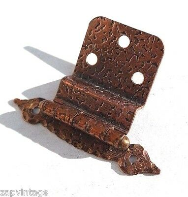Vintage Hammered Copper Kitchen Cabinet Door Hinges Offset