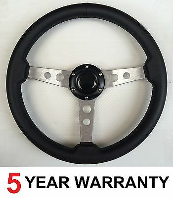 Classic Vintage Steering Wheel Fit Omp Mountney Nardi Momo Boss Kit 3 Spoke