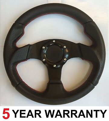 Sports Race Black Red Steering Wheel Fit Momo Omp Sparco Mountney Boss Kit 350Mm