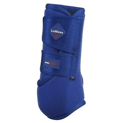 LEMIEUX PROSPORT SUPPORT BOOTS BENETTON BLUE PAIR horse lightweight competition