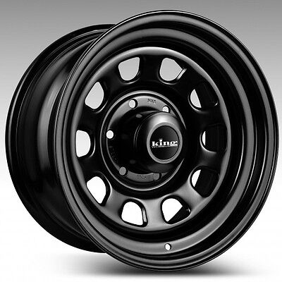 King Black D Hole 16X8 - 16 Inch 6/139.7 0P 4Wd Trailers-