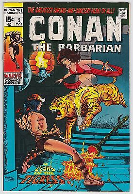 Conan The Barbarian #5 VF 8.0 Claws Of The Tigress Barry Smith Art!!