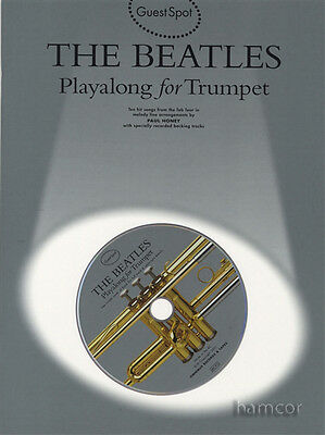 The Beatles Playalong for Trumpet Music Book & Backing Tracks CD