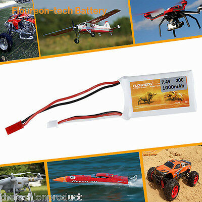 2S 7.4V 1000mAh 20C Lipo Battery Pack JST Plug for RC Car Truggy Hobby Airplane