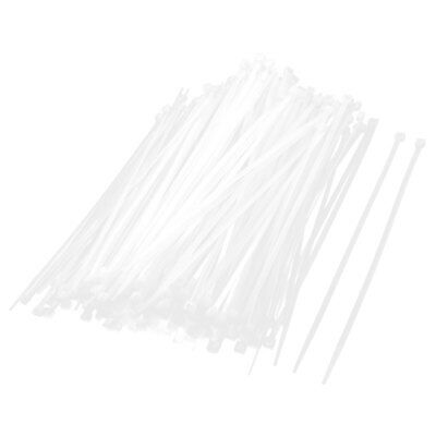 500 Pcs White Self Locking Zip Ties Wraps Straps 4mm x 300mm for Wire Cable