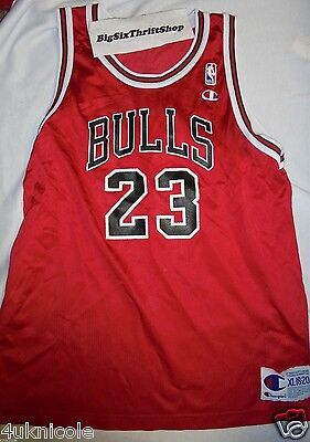 sxlgpe NBA Red Champion Jersey Size 36 Michael Jordan Chicago Bulls