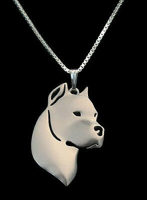 Dogo Argentino 3D pendant necklace argentinian mastiff dog collectible