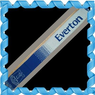 Everton Official Speckled Scarf with Club Crest - Royal and White - Gift idea