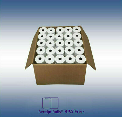 "3 1/8"" x 43' Thermal Register Paper -  Case of 50 Rolls"