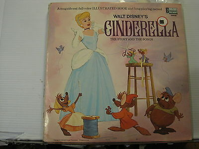 WALT DISNEY'S Cinderella The Story and the Songs DISNEYLAND LP Free UK Post
