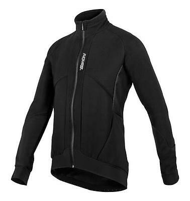 Brigand Winter Windproof Cycling Jacket in Black Made in Italy by Santini