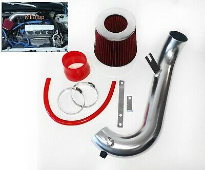 RED For 2001-2005 Honda Civic 1.7L L4 Air Intake System Kit + Filter