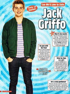 """JACK GRIFFO - 11"""" x 8"""" MAGAZINE PINUP - POSTER - TEEN BOY ACTOR"""
