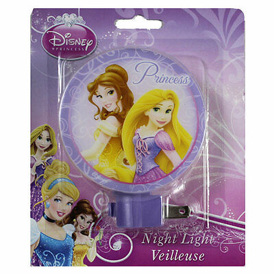 Disney Princess BELLE TANGLED PLUG IN W BULB Night Light Lamp GIRLS ROOM BATH