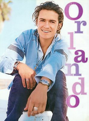 "ORLANDO BLOOM - GREAT CLOSE-UP - 11"" x 8"" MAGAZINE PINUP - POSTER"