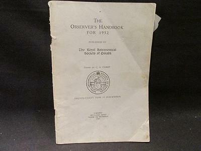 Observer's Handbook for 1932 Royal Astronomical Society of Canada 24th Year