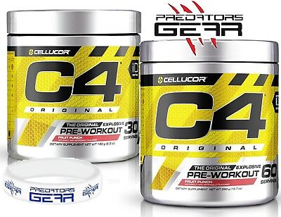 Cellucor C4 60 servings Pre Workout Original iD Series 5th Gen NEW + FREE Band
