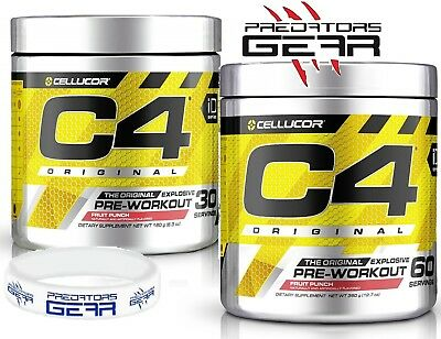 Cellucor C4 Pre Workout Explosive G4 Chrome Series 60/30 serv FREE wrist band MP