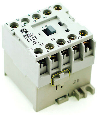 New Ge Miniature Contactor Cr6Zbn3B  3Pole  125V Dc 1Nc Auxiliary Contact
