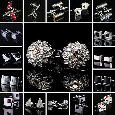 Lot Men's Cufflinks Square Nice Jewelry Wholesale Metal Stainless Steel Classic