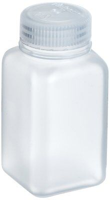 Nalgene 2110-0032 Polypropylene Wide Mouth Square Bottle 1000mL - Per Bottle