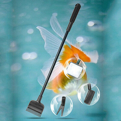 Aquarium 4 in 1 Nettoyage Outil Tool Set Fish Tank Algues Gravier Brush Cleaner