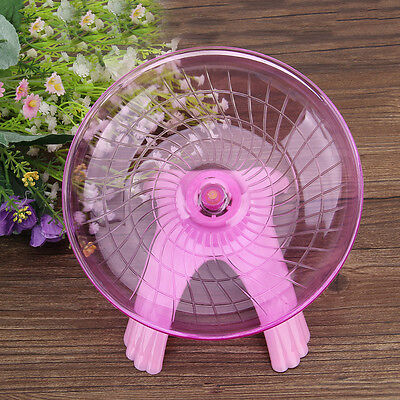 Courir Disque Plat Volant Spinner Roue Pets Toy pour Hamster Rat Lapin Rose