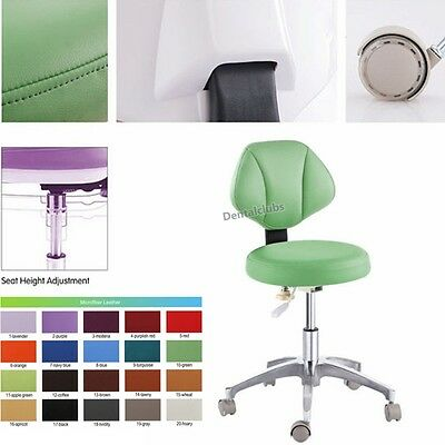 Microfiber Leather Dental Doctor's Stools Dentists' Adjustable Mobile Chairs New