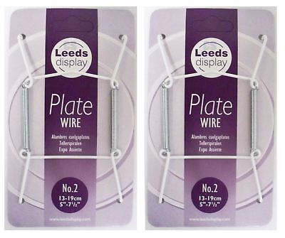 """2 x PLATE HANGERS WIRES PLATE SIZE 5"""" TO 7.5"""" NO 2"""