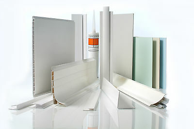 Angles, Joints, Adhesive for PVC Hygienic Wall Cladding Accessories UPVC 8ft