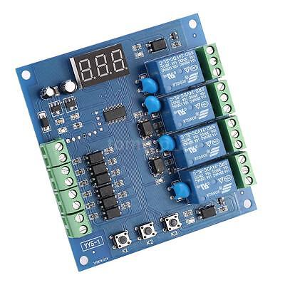 Programmable 4-Channel Relay Module PLC Board Adjustment Signal Trigger New E4M8