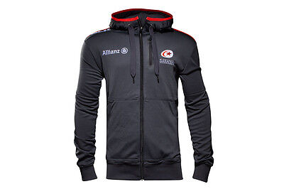 BLK Saracens 2016/17 Players Full Zip Hooded Rugby