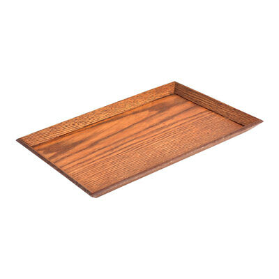 Restaurant Wood Rectangle Shape Coffee Tea Serving Tray Container Brown