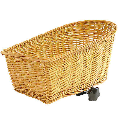 Pedalpro Wicker Rear Pannier Rack Bicycle/bike Basket Shopping/handbag Carrier