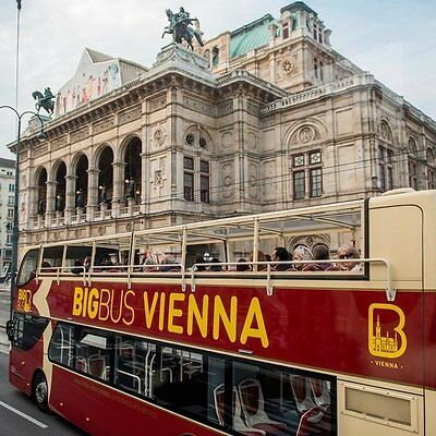 Hop-on Hop-off Sightseeing Big Bus Vienna Single Tour Rote Route Kultur Wien