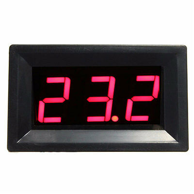 LED Digital DC12V 0~999℃ Thermocouple Temperature Meter Thermometer with Probes
