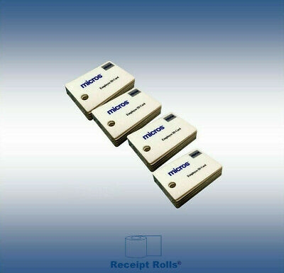 100 Genuine Micros Magnetic Stripe Employee ID Swipe Cards
