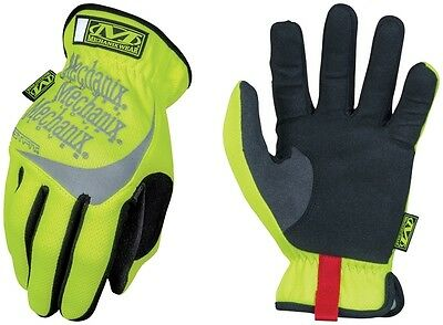 US Mechanix Fastfit Hi-Viz Yellow Safety Signal Handschuhe Gloves